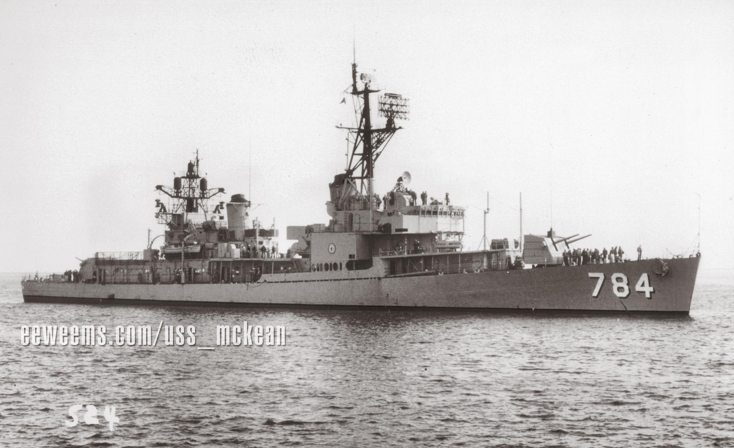 1970 USS McKean DD 784